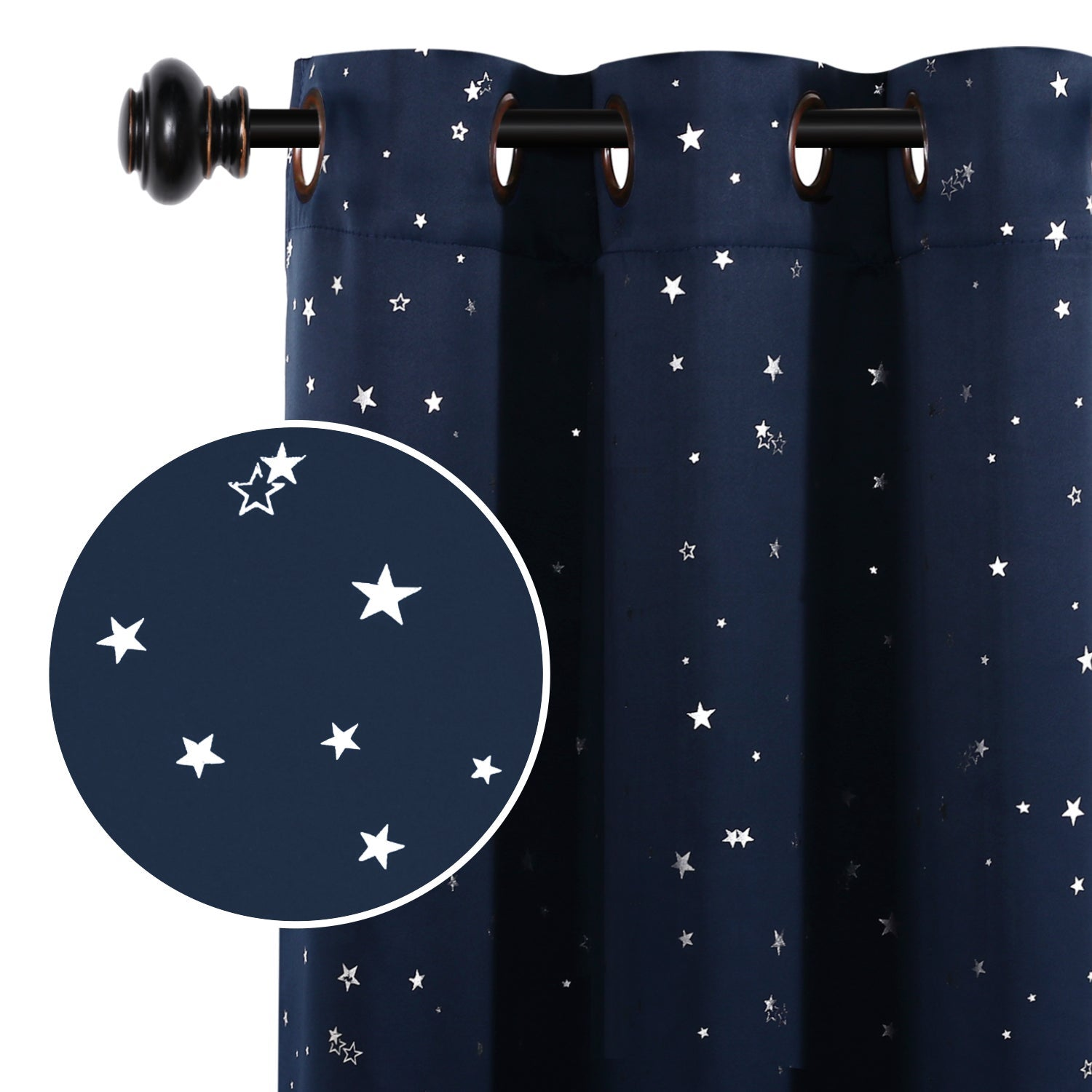 Blackout Star Curtain Kids Bedroom Blockout Curtain Thermal Curtain Sold 1 Panel