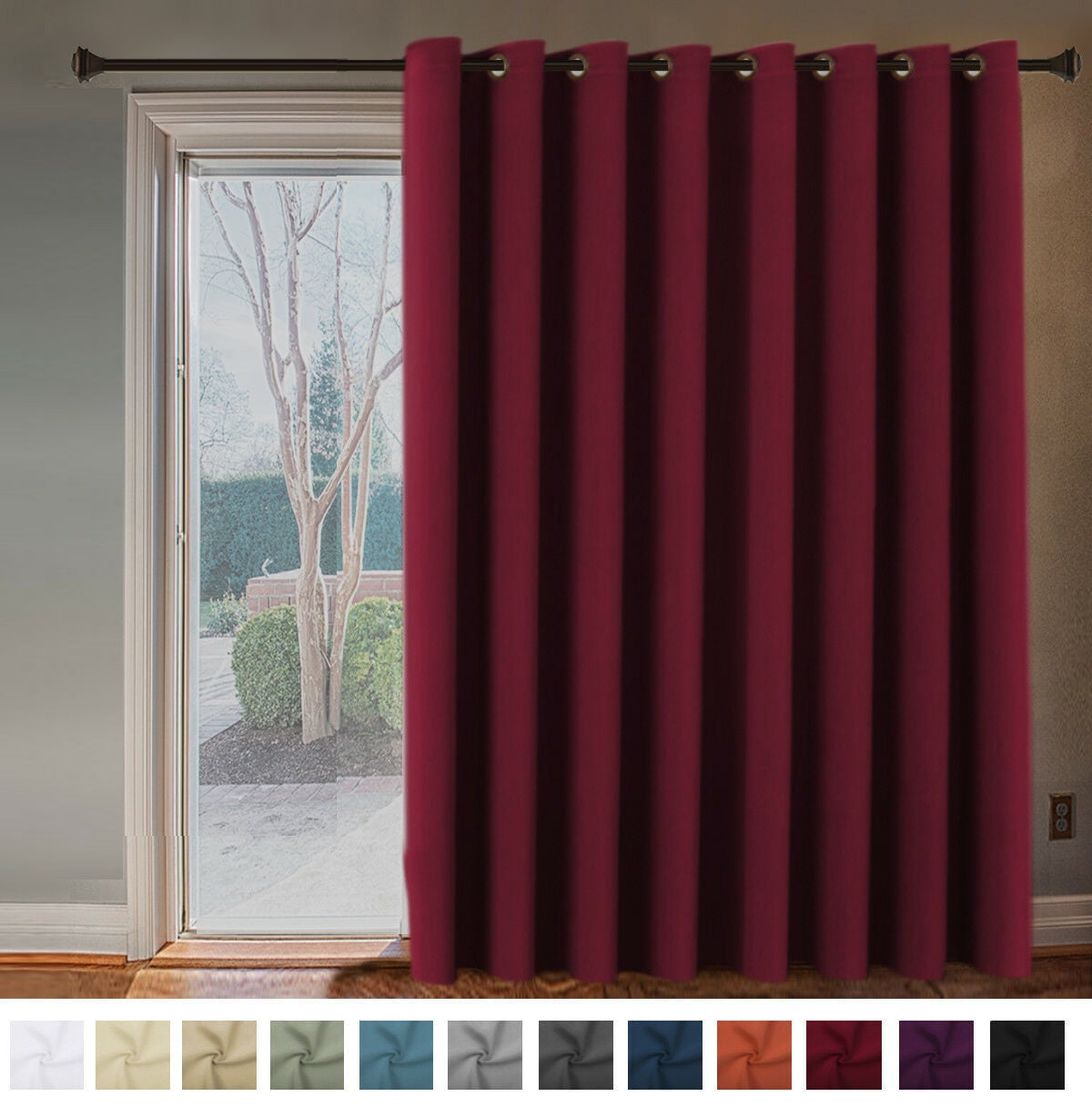 Double Wide Blockout Curtains Large Blackout Curtain Draperies Room Divider
