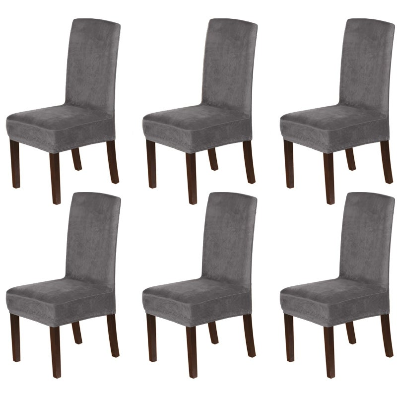 Thick Velvet Dining Chair Covers Slip, Chair Covers For Dining Room Chairs