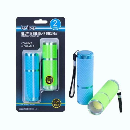 Set of 2 Glow in the Dark Torches with COB LED Technology