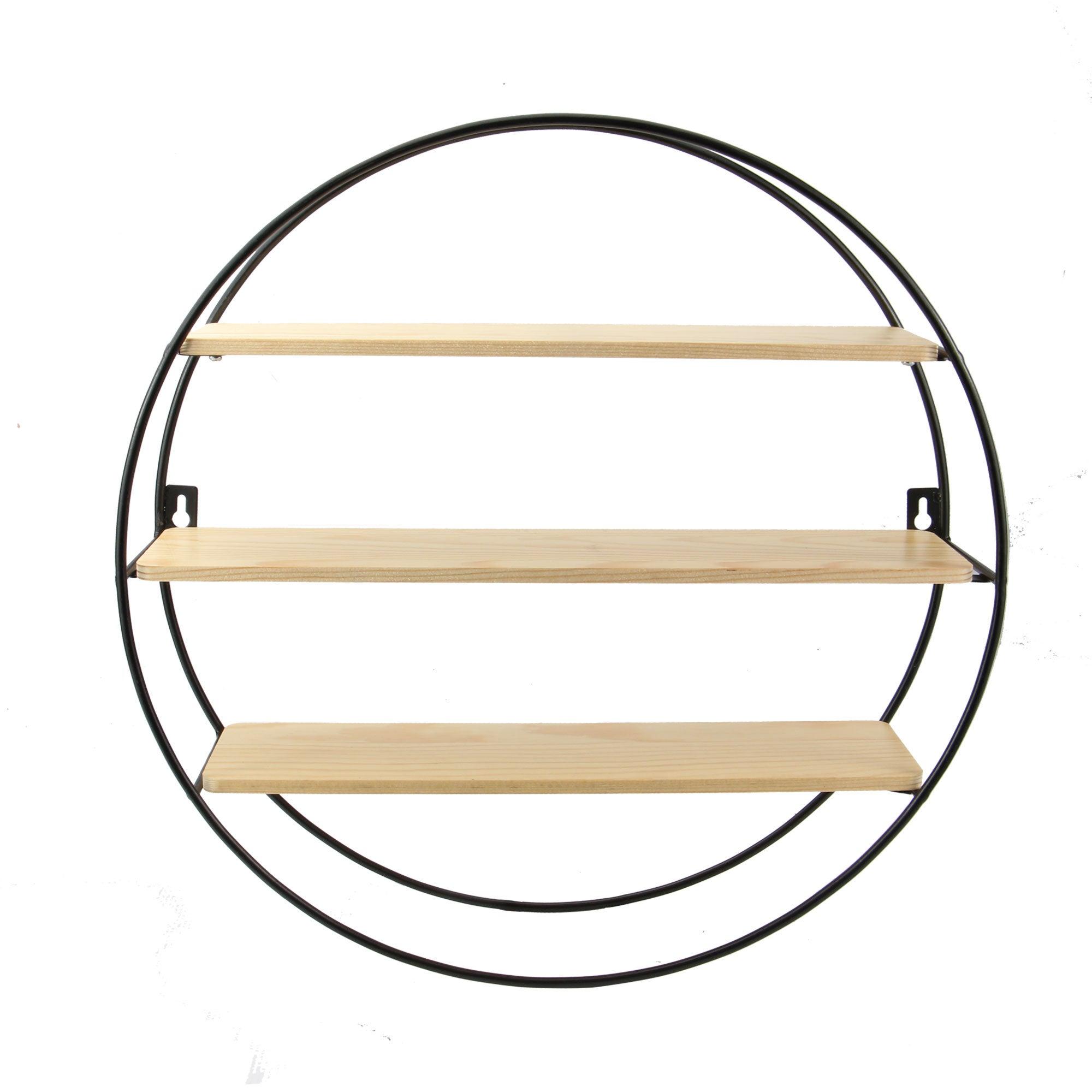 Floating Circle Shelf - M&W 3 Tier