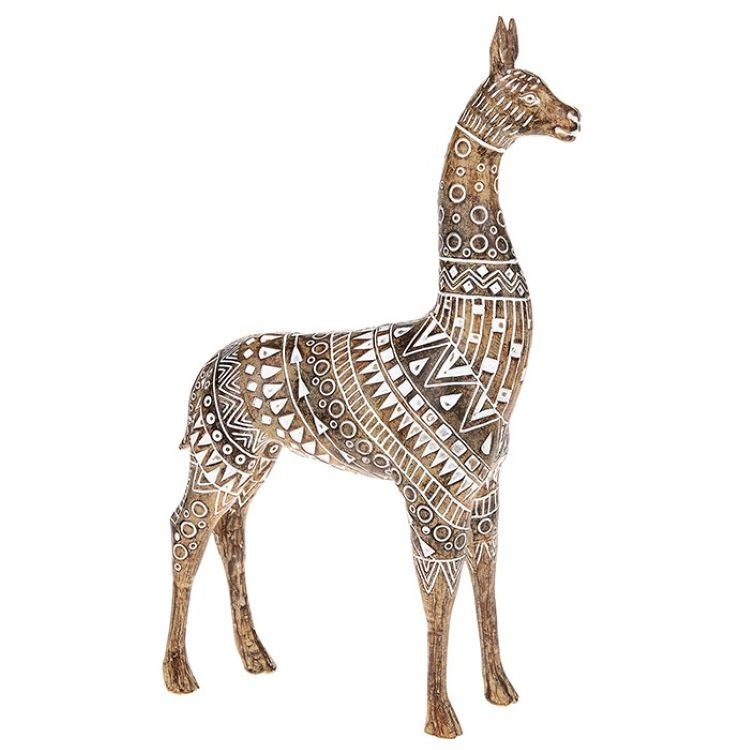 Aztec Llama Wood Ornament