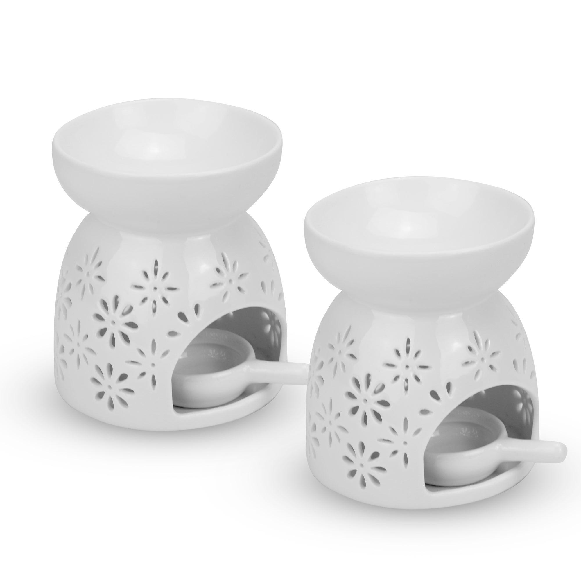 Ceramic Oil Burners - Set of 2 - M&W Flowers