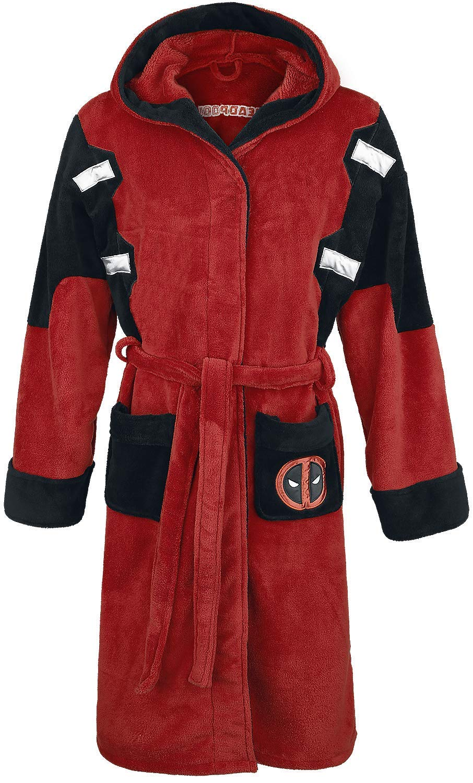 Deadpool Official Marvel Fleece Adult Dressing Gown Bathrobe - One Size