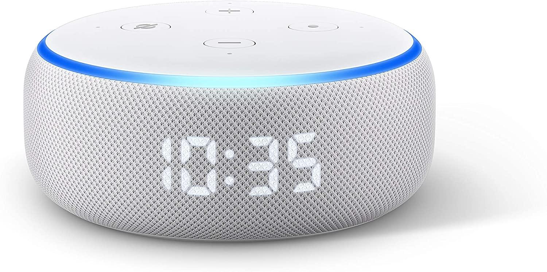 Echo Dot (3rd generation) Smart speaker with clock and Alexa Sandstone fabric UK Plug