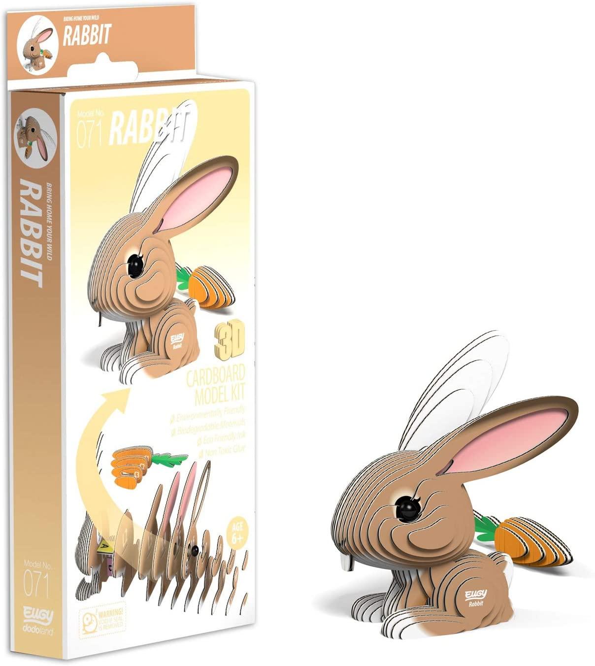 EUGY Rabbit 3D Craft Kit