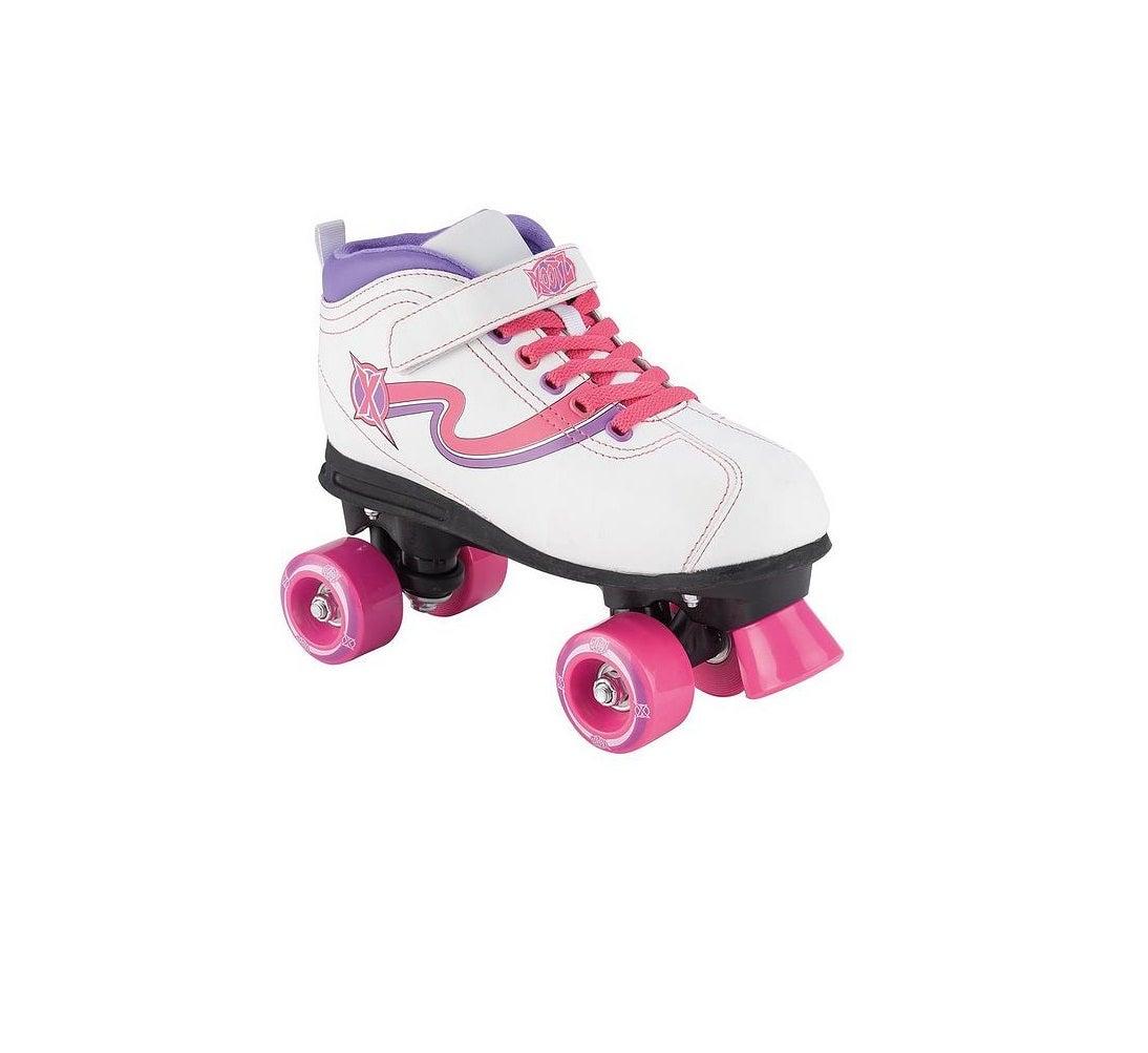 Xootz Disco Quad Skate Roller Skates with LED Wheels UK Child Size 11