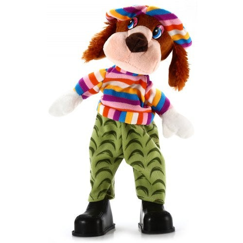 15 inch Dog Shape Plush Toy Musical Shivering Head Baby Stuffed Doll- Colormix