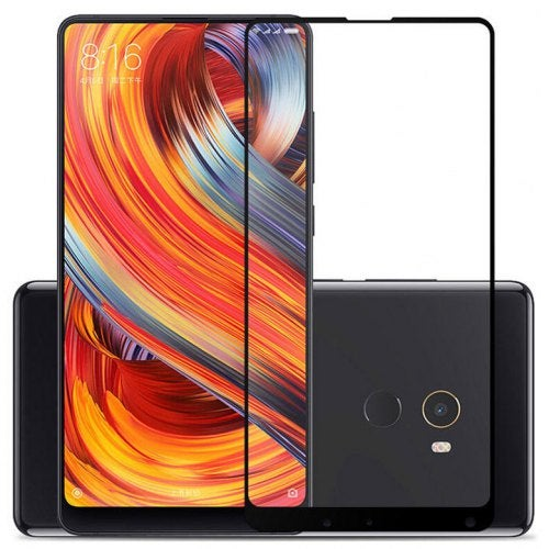 2.5D Full Screen Protective Film Empered Glass for Xiaomi Mi Mix 2- Black