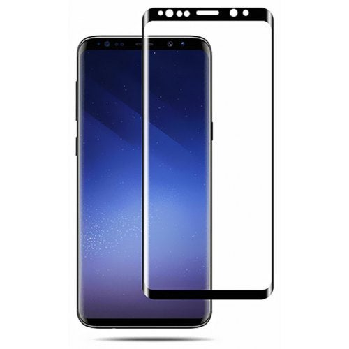 3D Curved Tempered Glass Full Screen Protector for Samsung Galaxy Note 9- Black