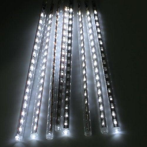 50CM 8 Tubes LED Meteor Shower Rain Lights AC 110 - 240V- White Light EU power adapter