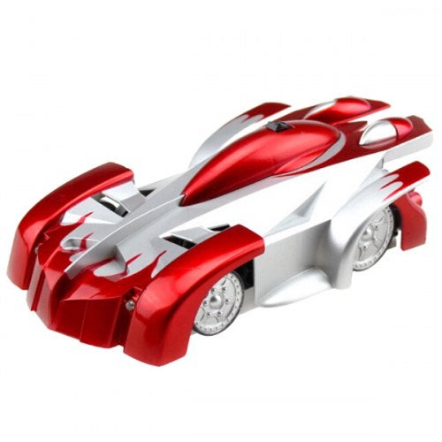 9920C Children's Electric Remote Control Toy Climbing Wall Car- Red