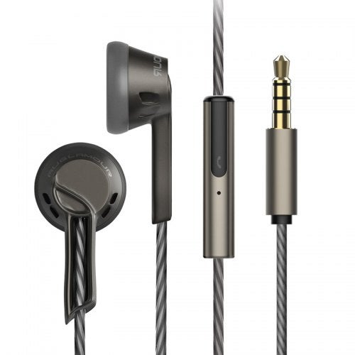 AuGlamour RX-1 Metal Zinc Magnesium Alloy In-ear Stereo HiFi Earphone Graphene Diaphragm Dynamic Earbuds with Mic- Black