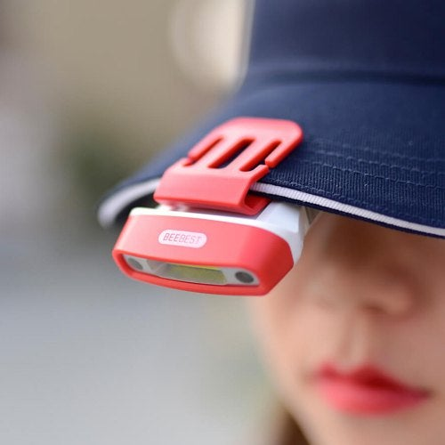 BEEBEST FH200 100lm Gesture Sensing Clip Headlamp Portable COB LED Rotatable Flashlight Rechargeable Hands-free Cap Light for Reading Hunting Camping Fishing from Xiaomi youpin- Red