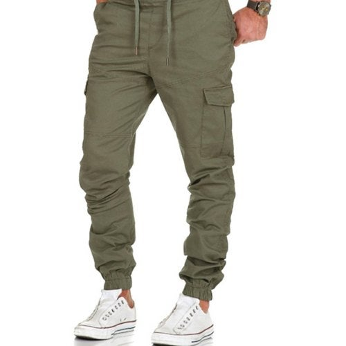 Casual Stylish Sports Pants for Men- Green L