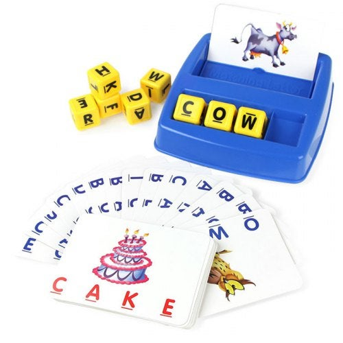 Children's Fun Learning English Look At The Picture Letters Toy- Dodger Blue