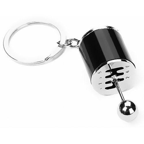 Creative Auto Part Model Six-Speed Manual Transmission Shift Lever Keychain- Black