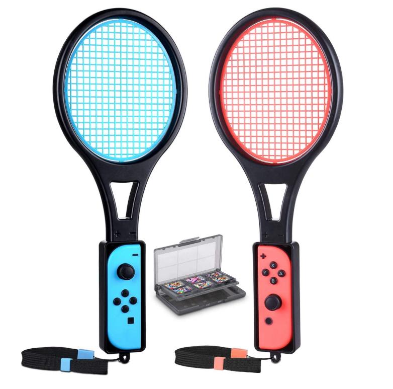 DOBE Tennis Racket for Nintendo Switch Joy-Con Controller KINGTOP Twin Pack Tennis Racket for Nintendo Switch Game Mario Tennis Aces