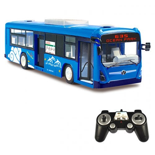 DOUBLEE E635 - 003 Remote Control Bus- Ocean Blue