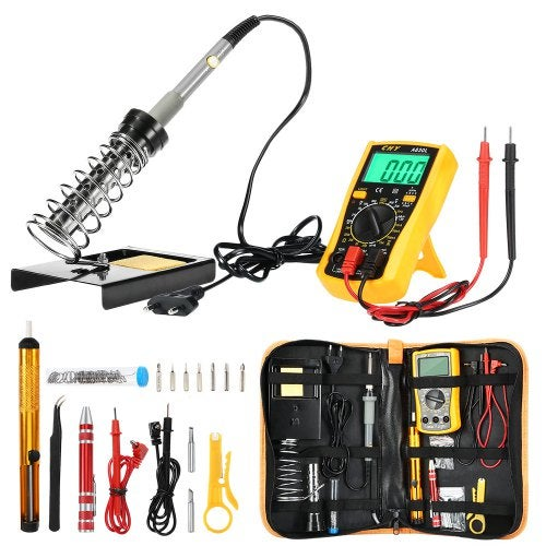 FSK - 166 Electronic Soldering Iron Kit with Carry Case- Black and Orange EU