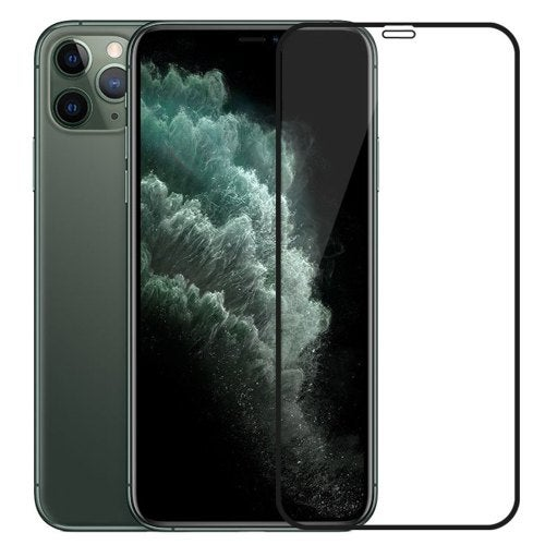 Full Coverage Glass Screen Protector for iPhone 11- Black