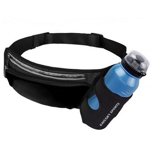 Haissky Sports Pockets Outdoor Cycling Running Waist Bag- Black