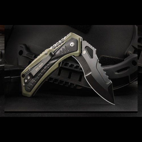HX OUTDOORS ZD-19 AUS-8 Blade G10 Handle Folding Knife Outdoor Hunting Survival with EDC Knife- Green black China