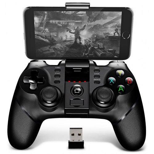 iPega PG - 9076 2.4G Wireless Bluetooth Gamepad with Bracket- Black