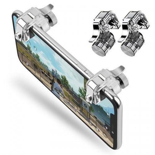 L1R1 Shoot Aim Tire Trigger Controller Button for Mobile Phone Game 2pcs- Transparent