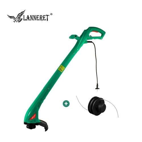 LANNERET 250W 220mm AC Electric Grass Trimmer Hand Cleaner Grass Cutter Machine Line Trimmer- Green China EU