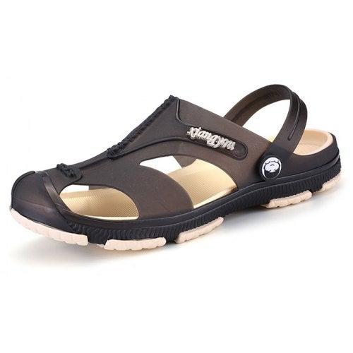 Men Leisure Breathable Dual-use Anti-slip Sandals- Black 44