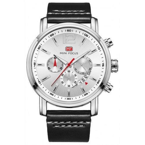 MINI FOCUS Fashion Sport QuartzBrand Men Watches Luxury Famous Male Clock- White