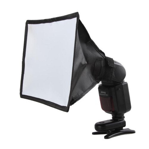 Mini Photo Reflector Flash Professional Softbox Photography for Canon Nikon Sony- Carbon Fiber Black