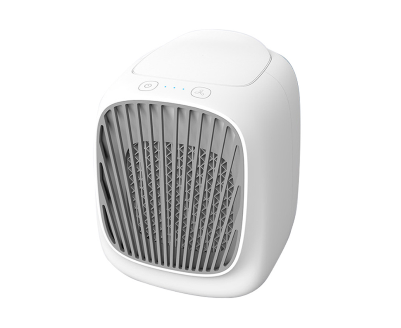 Mini Portable Air Conditioning Fan, Small Swamp Cooler, USB Evaporative Rapid Air Cooling Fans, Office, Room��Camping-WHITE