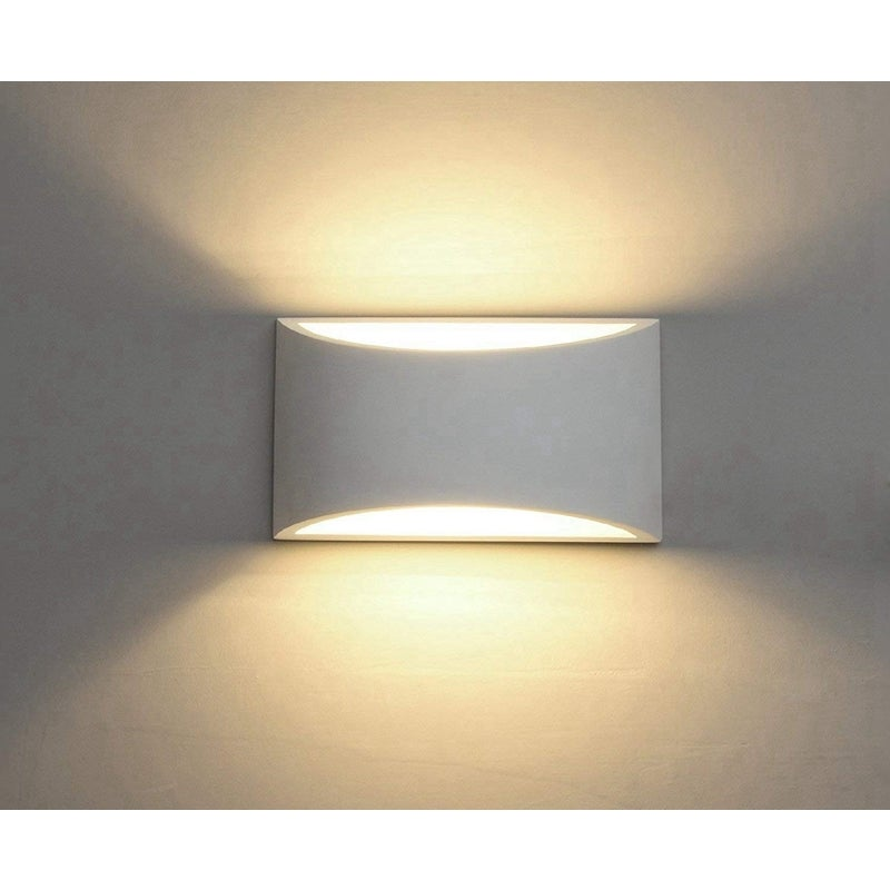 Modern LED Wall Sconce Lighting Fixture Lamps 7W Warm White 2700K Up and Down Indoor Plaster Wall Lamps(with G9 Bulbs Not Dimmable)-Warm White Light