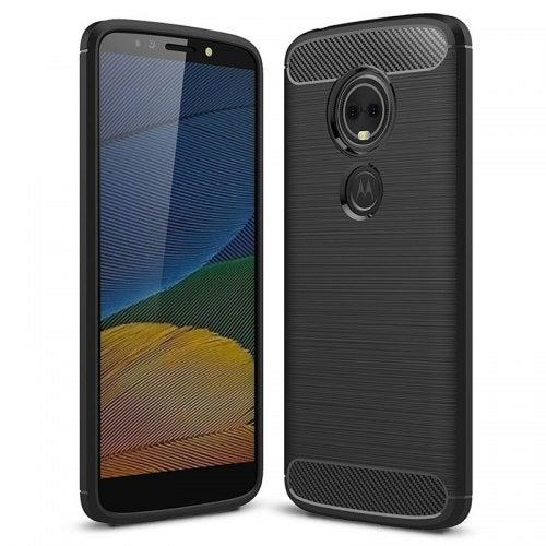 Naxtop Carbon Fiber Phone Case for Motorola Moto G6 Play- Black