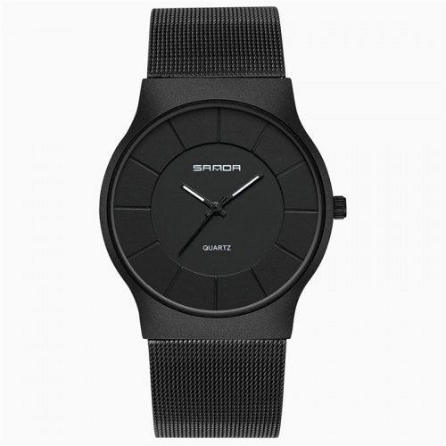 Sanda Men Ultra Thin Fashion Stainless Strap Quartz Watch- Multi-A