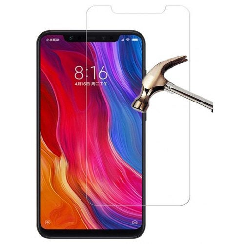 Scratch Resistant 9H Hardness HD Clear Tempered Glass Screen Protector for Xiaomi Mi 8- Transparent
