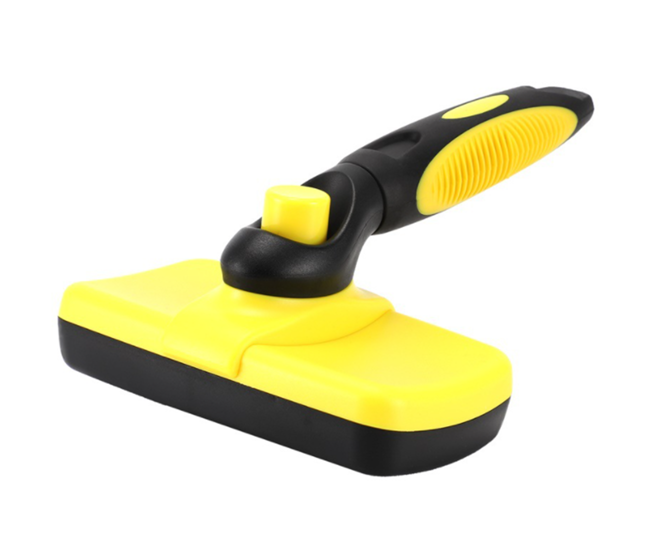 Self Cleaning Brush - Pet Grooming Tool Removes Loose Undercoat, Easy to Comb for Dogs and Cats with Long or Short Hair-YELLOW