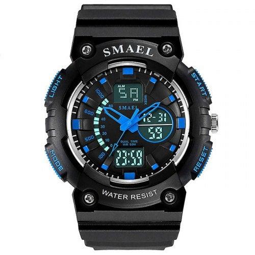 SMAEL 1539 Waterproof Luminous Alarm Sports Children's Watch- Blue