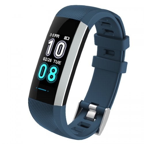 Smart Fitness Bracelet Watch Blood Pressure Heart Rate Monitor Smart Watch- Black blue China