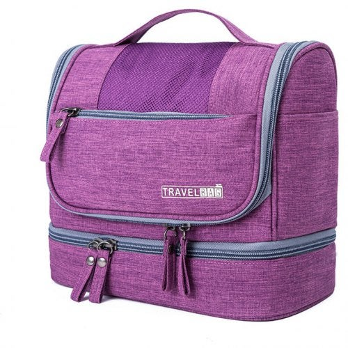 Swimming Dry and Wet Separation Male and Female Water-Resistan Storage Beach Bag- Purple