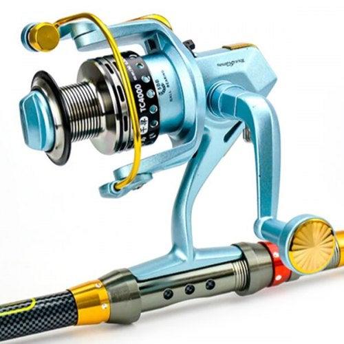 tokushima Metal Fishing Reel Long-distance Sub-wheel- Blue 4000