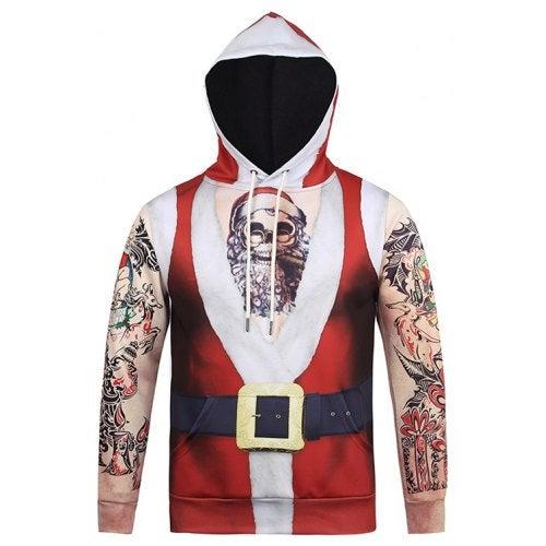 Unique Christmas Hoodie Sweatshirt- Red L