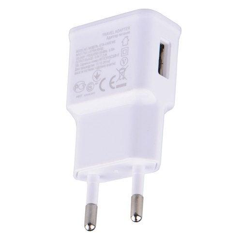 Universal EU Plug Adapter 5V 2A USB Mobile Phone Wall Charger- White