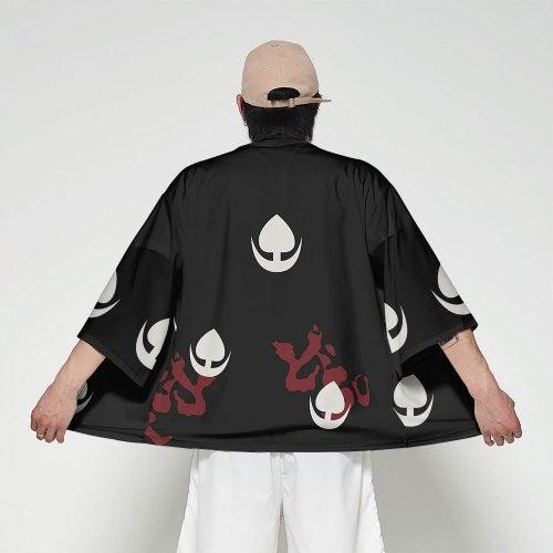 V01044 Men Fashion Printed Kimono Cardigan- V01044 3M25 XS China