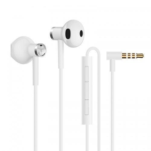 Xiaomi Hybrid DC Dual Driver Earphone Half In-Ear Wired Control 3.5mm Headsets- White Hong Kong??HK??