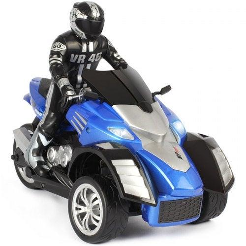 YD898 - T34 RC Beach Motorcycle Inverted 3-wheel RTR- Ocean Blue