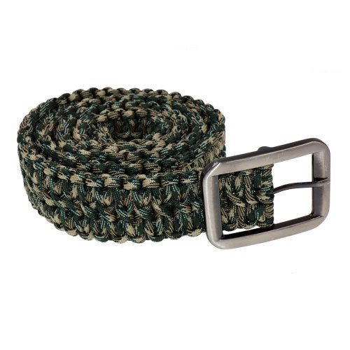 Yougle Tactical 550 Paracord Parachute Cord Waist Belt Survival Woven Belt With Metal Buckle- Color 5 China