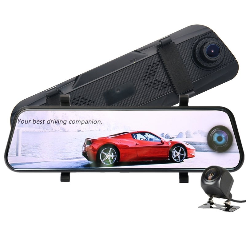 Driving Recorder Full Screen Streaming Media 10 Inch Rear View Mirror Dual Lens HD 1080 Night Vision Panoramic Reversing Image